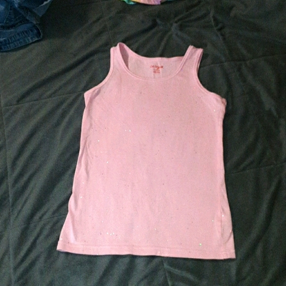 Girls 10/12 pink sparkly tank top